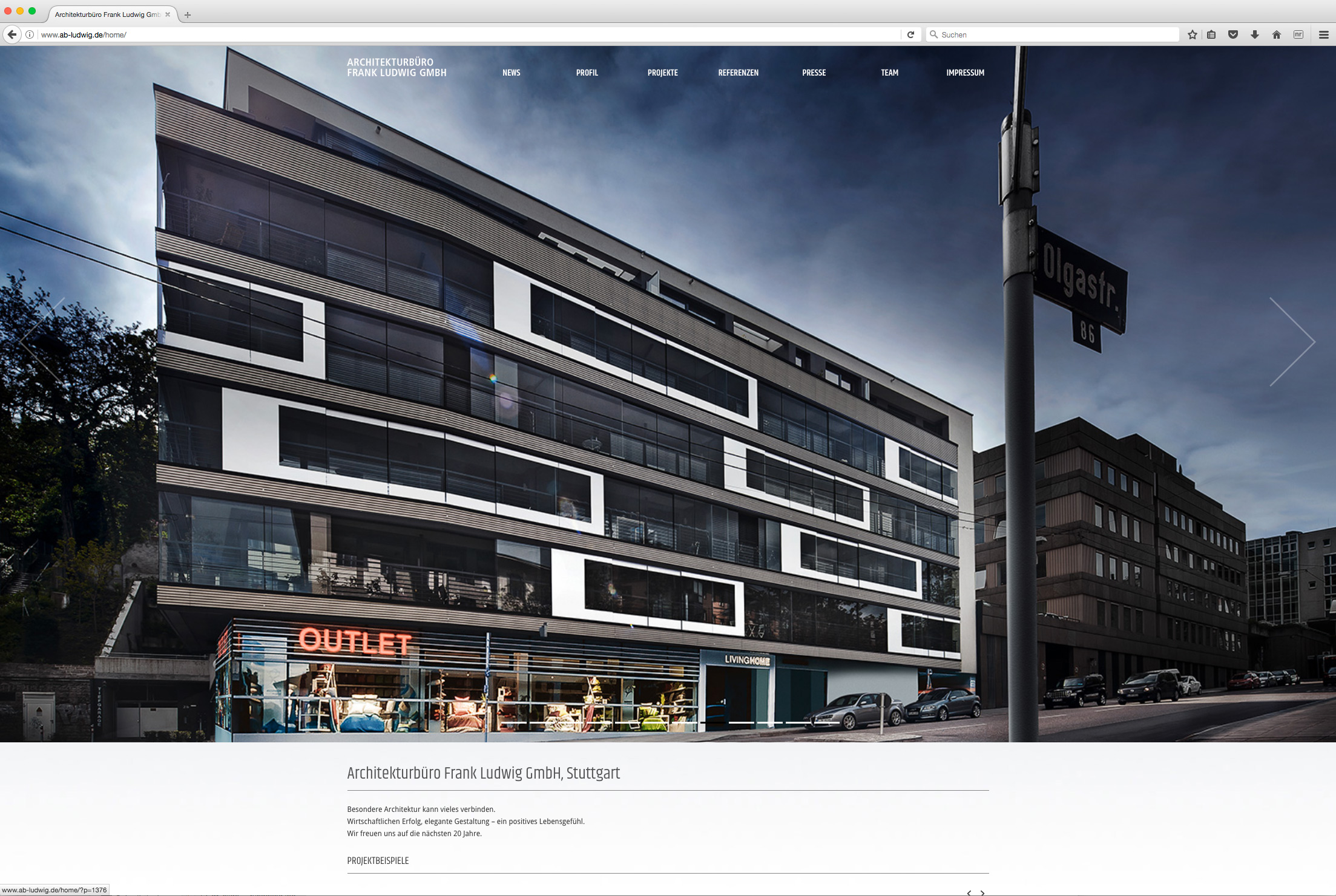 website architekturb ro frank ludwig gmbh geht online minister von hammerstein. Black Bedroom Furniture Sets. Home Design Ideas
