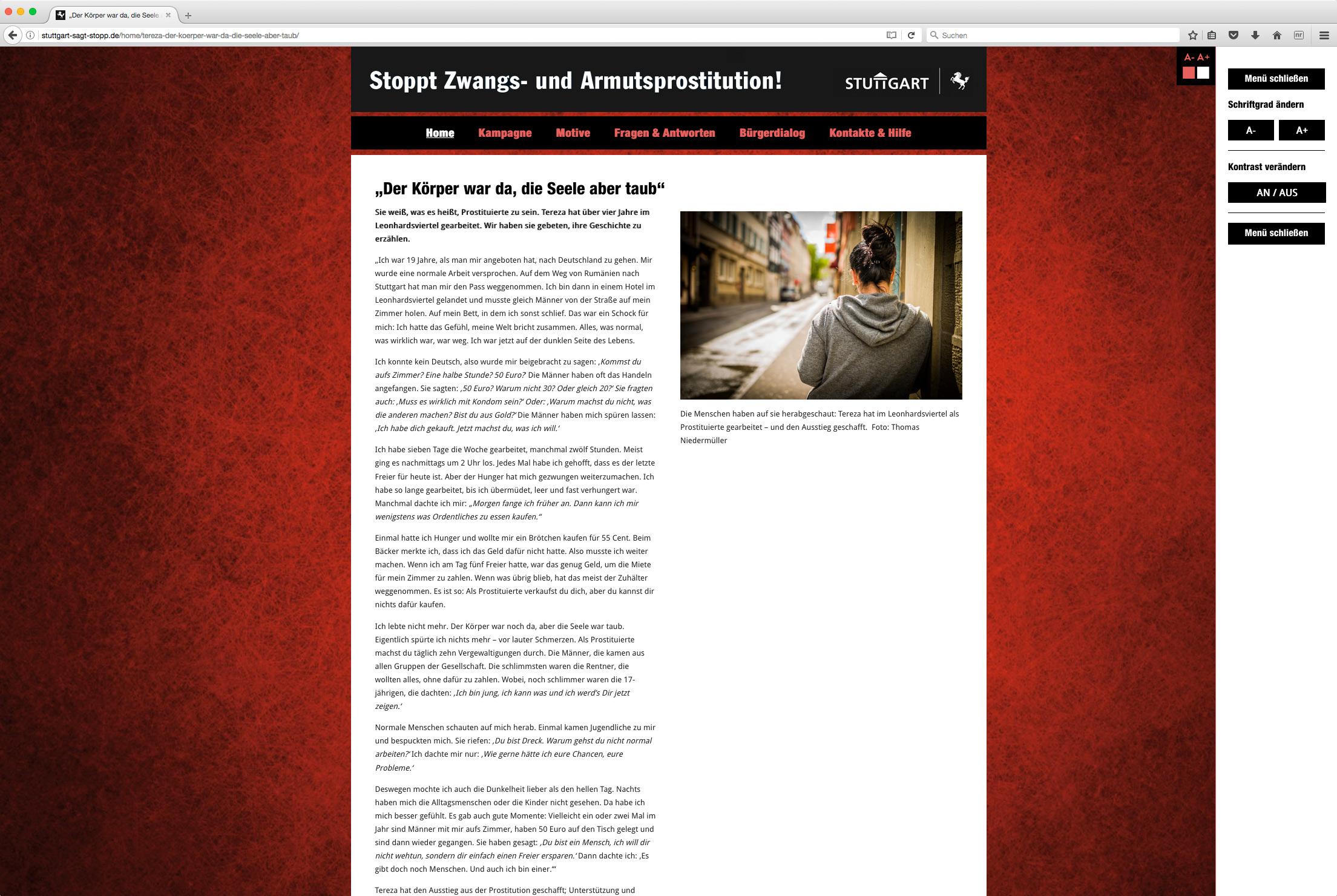 website f r die stadt stuttgart die w rde des menschen ist auch beim f n unantastbar. Black Bedroom Furniture Sets. Home Design Ideas